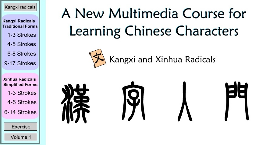how to learn all chinese radicals